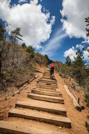 Manitou Springs Incline: Beginning of the hike