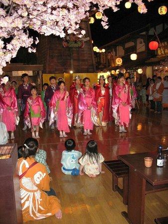 Odaiba Tokyo Oedo-Onsen Monogatari: Шоу