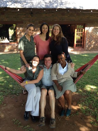 Mohlabetsi Safari Lodge : The managers, owner, and me