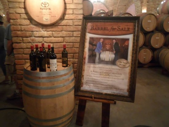 Castello di Amorosa: Castle wine barrel for sale