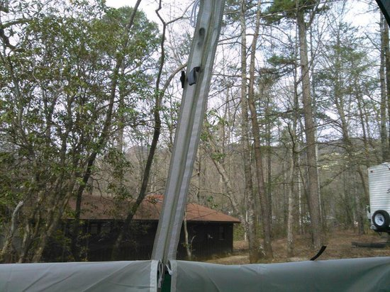 Table Rock State Park : View from the front of our tent.