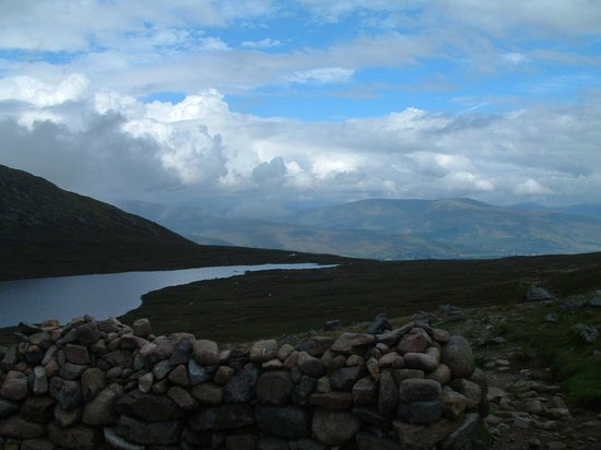 Achintee Farm: a loch upon Ben Nevis hiking path, nearly at the top