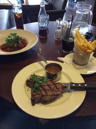 Ego Mediterranean Restaurant - Kenilworth: Generous portions! Rump Steak from Fixed lunch menu! Delicious!
