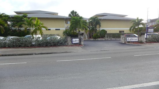 The Anchorage Condominiums: front of property from West Bay Road