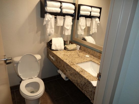 Best Western Plus Columbia North East : Clean and bright bathroom