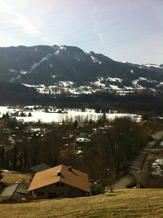 Hotel Edelweiss : vue de notre chambre