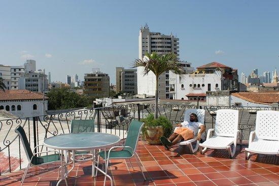 Hotel Don Pedro de Heredia : Solarium en el último piso