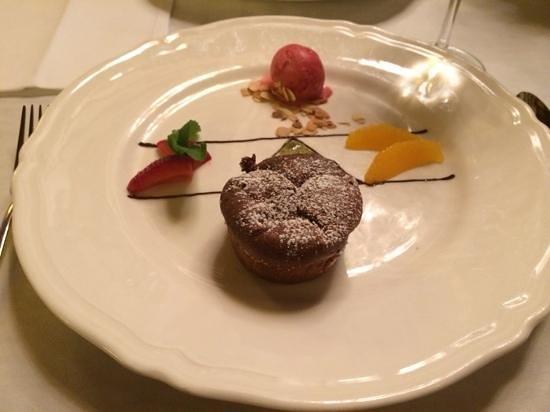 Hotel Wentzl: chocolate souffle