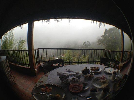 Posada Don Elicio: En el desayuno con una vista hermosísima