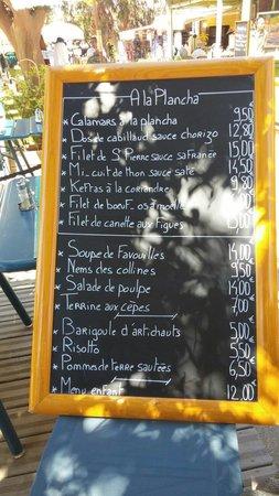 Le Pelagos : L'ardoise
