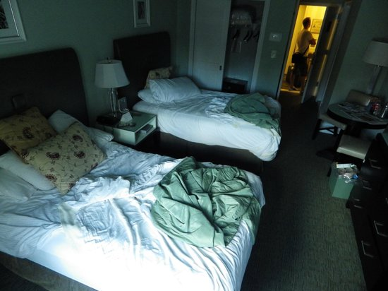 Hotel Beacon: A shot of our room (ignore the state of the beds, we were just leaving and left them a bit messy