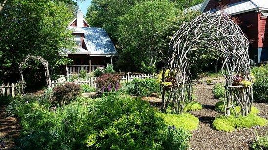Glen-Ella Springs Inn : taking a walk through the garden