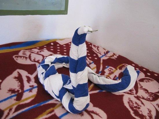 Al Baeirat Hotel : Schlange aus Handtüchern