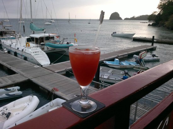 The Black Pearl: The rum punch and the view from the bar