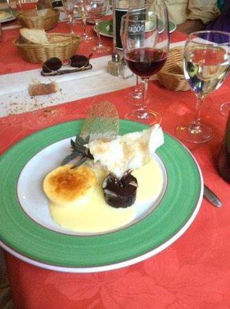 Entre Terre et Mer: trio of desserts