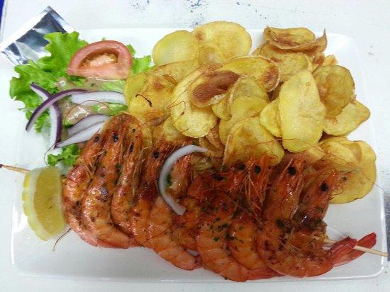 La Regaline : Brochette de crevettes.