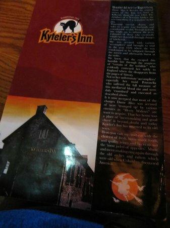 Kyteler's Inn: Menu
