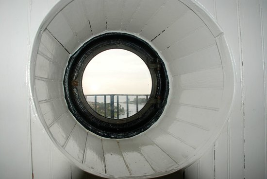 Jupiter Inlet Lighthouse & Museum: View out one of the ports inside the light