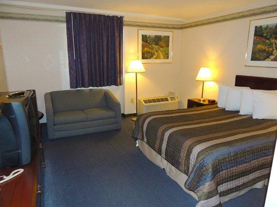 Budget Host Inn & Suites: 1 Queen Bed w/twin sleeper sofa