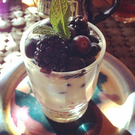 Boots and Saddles : Soy parfait with fresh berries