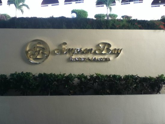 Simpson Bay Resort & Marina: As you enter the front desk lobby.