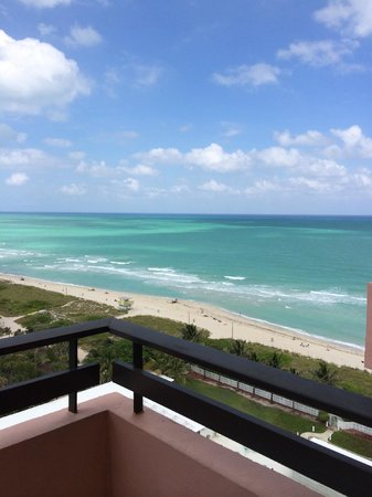 The Alexander All-Suite Oceanfront Resort: view from the balcony on 16th floor