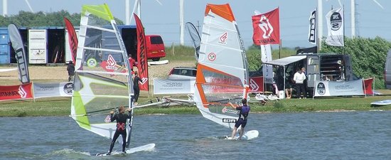 Camber, UK: Windsurfing at Rye Watersports