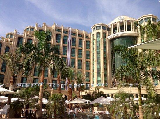 Queen of Sheba Eilat: Hôtel vu de la piscine