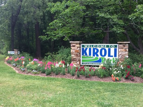 West Monroe, LA: The entrance sign to Kiroli Park