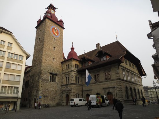 Old Town Lucerne : A tower in the old town