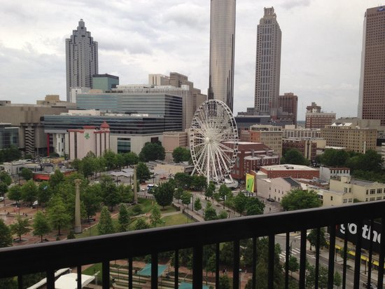 Omni Atlanta Hotel At Cnn Center View From Balcony 1021 South Tower