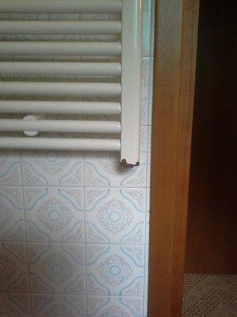 Viktoria Palace Hotel: sèche serviettes rouillé