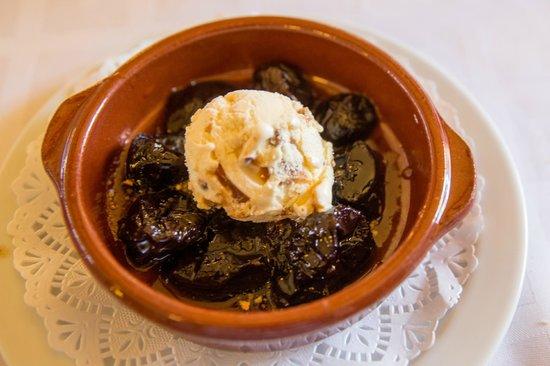 Cim: Prunes, ice cream and Armagnac