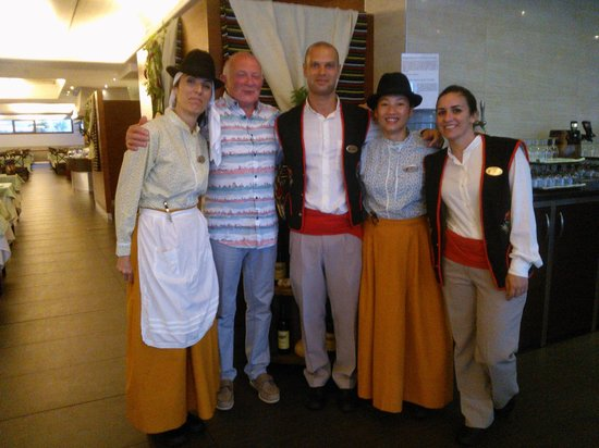 Marylanza Suites & Spa: us and staff in the resteraunt of the Marylanza
