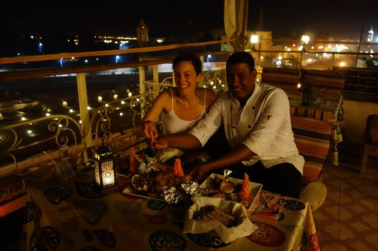 Al-Sahaby Lane Restaurant: roof terrace, amazing dinner with the chef Gabrielle