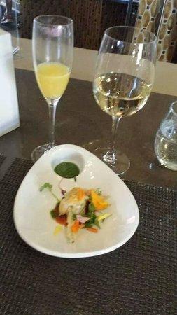 Westin Mission Hills Golf Resort & Spa: Delicious fried zuchini flower dish