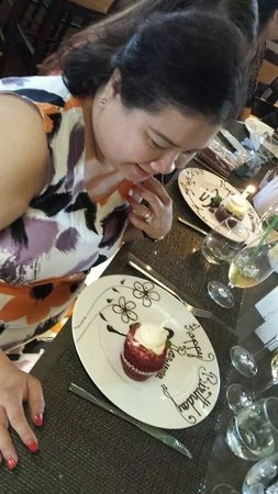 Westin Mission Hills Golf Resort & Spa: Special birthday dessert