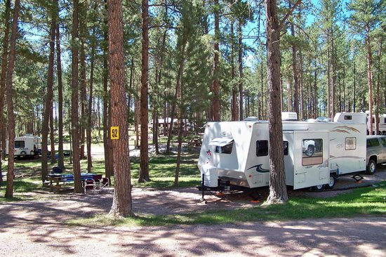 Big Pine Campground: Site 52 - look at all this space.