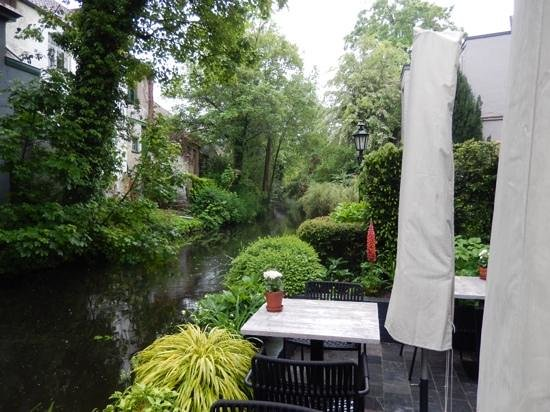 View from the canal-side patio at Huis Koning
