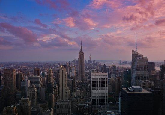 Plate-forme d'observation du GE Building : Sunset from Rock
