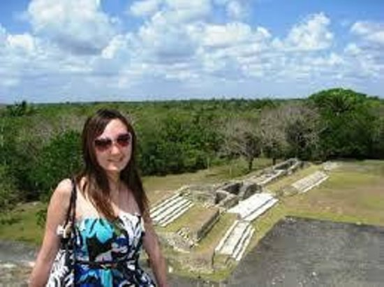Cave Tubing & Zip Line with Explore Belize Caves: me on top of the temples