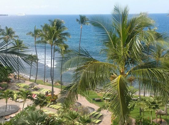 Hyatt Regency Maui Resort and Spa : Our view of the beach