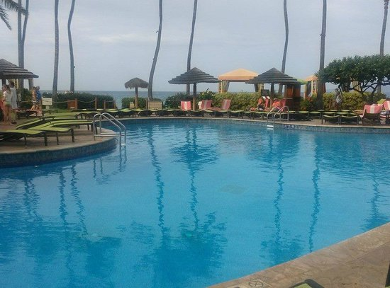 Hyatt Regency Maui Resort and Spa : The pool in the morning before breakfast.