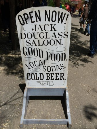 Jack Douglass Saloon: Outdoor Sign
