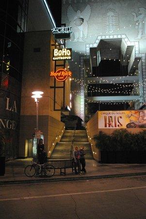 Hollywood VIP Hotel : метрах в 150 от заднего входа