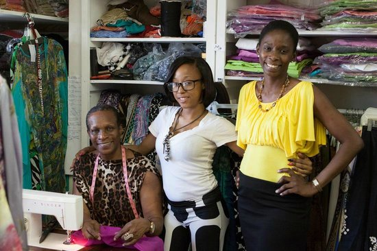 Antigua's Yepton Estate Cottages : Noreen Phillips Couturiere in St. John's is a great place to get a custom made dress.