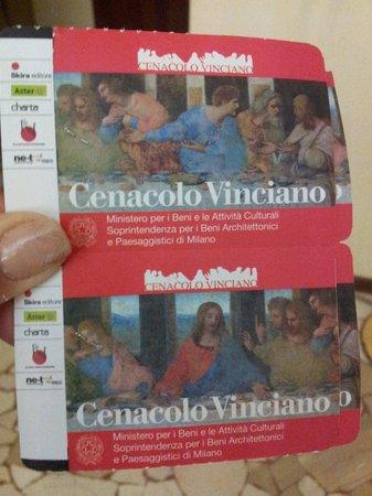 La Cène (Léonard de Vinci) : Ingressos: compre com 2 meses de antecedencia, no minimo