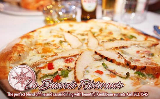 La Bussola Restaurant : One of our delicious wood burning oven cooked pizza