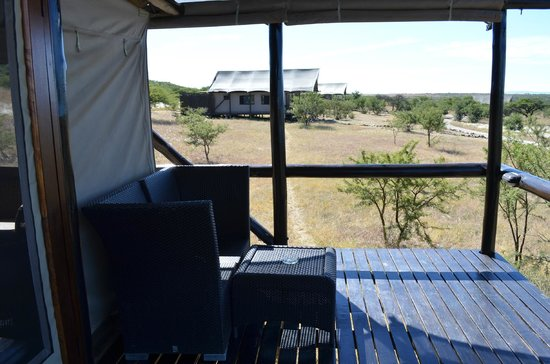 Springbok Lodge: View from the decking area outside our tent