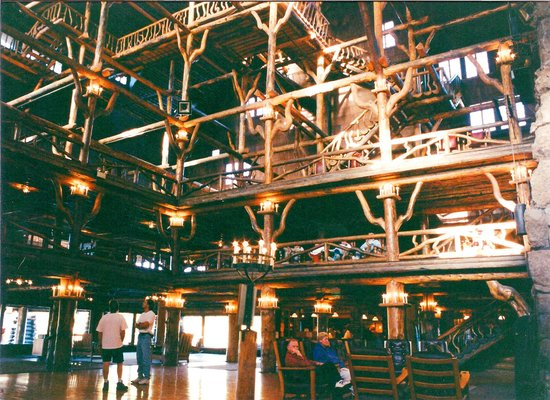 Interior view of the Old Faithful Inn